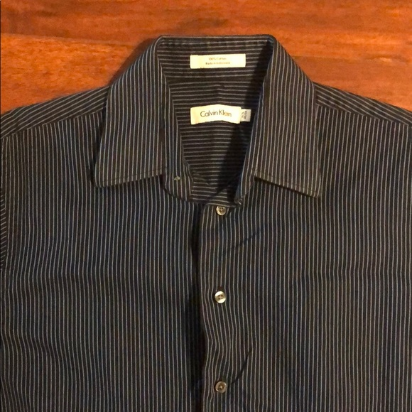 Calvin Klein Men S Button Down Striped Shirt